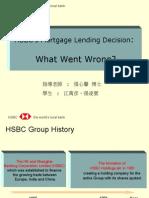 HSBC's Mortgage Lending Decision
