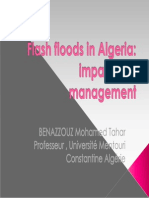 conférence CAIRO flash flood in Algeria prof BENAZZOUZ