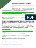 Act. 3. Reconocimiento Unidad 1 - Metodologia de La Investigacion {UNAD}
