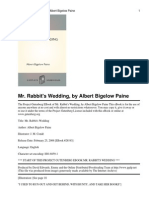 Mr. Rabbits Wedding