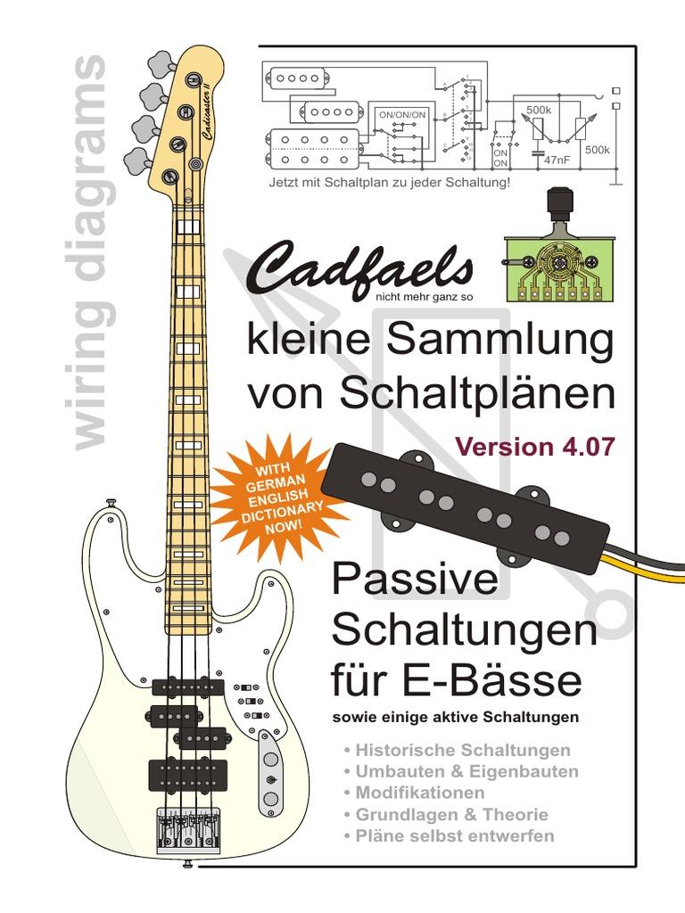 Beste Bassgitarre Pickup Schaltplan Galerie - Elektrische Schaltplan ...
