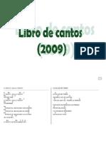 Libro Cantos 2009