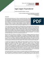 La Epistemología según Feyerabend