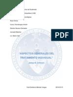 Aspectos Generales de Tratamiento Individual