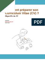 Comment préparer son Curriculum Vitae (CV)