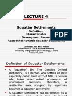 Lect 4_Squatter Settlements