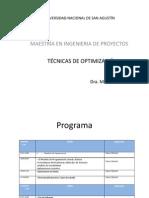 Tecn. Optimizacion 2013