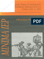 Christine Hunefeldt - Las Manuelos, Vida Cotidiana de Una Familia Negra en La Lima Del Siglo XIX