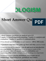 Ecologism Questions Overview