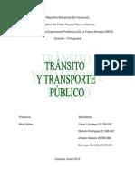 Trabajo de Transito de Transporte Publico