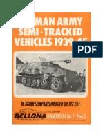 (1972) (Bellona Handbook No.2) German Army Semi-Tracked Vehicles 1939-45, Part 3 - M. Schuetzenpanzerwagen Sd. Kfz 251