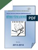TEXTO METODOS Y TÉCNICAS 2012 DR. ALCIVAR
