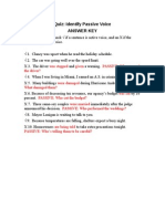 Passive Voice Answer Key