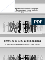 Hofstede Cultural Dimension 1