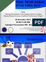 Proposal Reuni Akbar Civitas Kimia 2013 Ppt