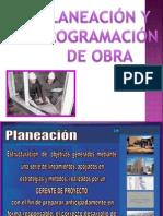 Planeacion y Programacion de Obra