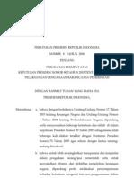 perubahan 4 perpres nomor 79 tahun 2006 tentang perubahan keempat atas keppres nomor 80 tahun 2003 tentang pedoman pelaksanaan pengadaan barang dan jasa pemerintah
