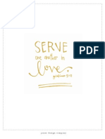 Serve in Love 8x10