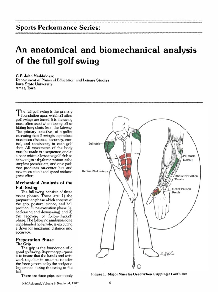 Golf Swing Biomechanics NSCA Article