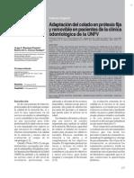 Adapatacion Del Colado en Ppf Ppr en Clinica Odo Univ