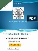 Energi Bebas Dan Potensial Kimiai