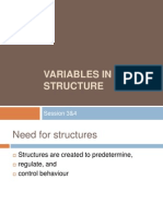 Variables in Structure