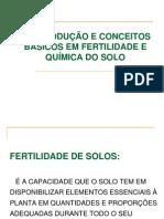 3. INTRODUÇÃO E CONCEITOS BÁSICOS EM FERTILIDADE E QUÍMICA DO SOLO1