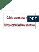 01 Colheita e Remessa de Material Biologico Para Exames de Laboratorio [Modo de Compatibilidade]