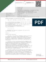 CHILE Reglamento Radiodifusión Sonora - Decreto N°126 de 1998