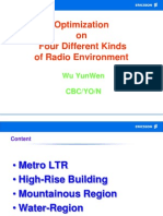 Optimization on Four Different Kinds of Radio Environment