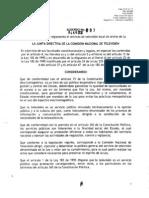 COLOMBIA Acuerdo sobre televisión local sin fines de lucro- 003, 2012
