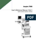 Datex-Ohmeda Aespire 7900 Anaesthesia Machine - User Manual
