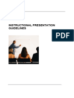 Instructional Presentation Guidelines