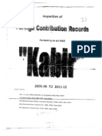 Inspection of Foreign Contribution Records Pertaining to an NGO Kabir