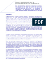 MÉXICO Política sobre TDT - Cofetel