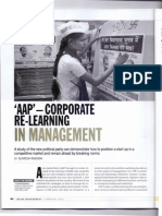 Article by JIMS Rohini Lessons in Management Aam Admi Party