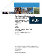 NREL Western Wind and Solar Integration Study