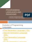 Languages and Paradigms