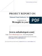Project Report on MutualFundIndustry Mbahotspot.com