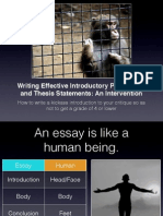 Writing Effective Introductory Statements