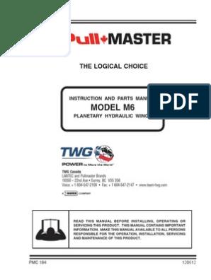 Pullmaster Model M6 Seal Kit 23119