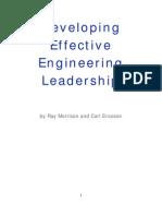 Developing Effective Engineering Leadership