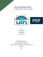 Laporan Praktikum Kimia Organik Sintesis Asam Oksalat dari gula pasir