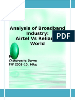 Analysis of Broadband Industry