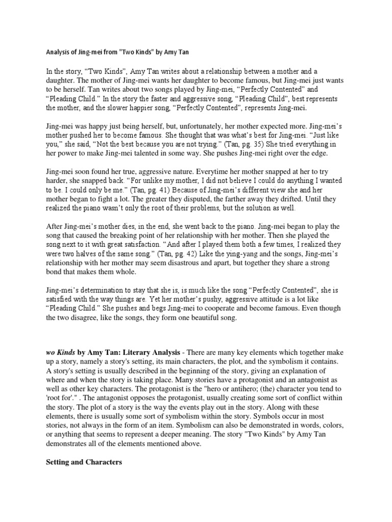 Essay on the story two kinds world war 2 essay titles