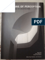 Questions of Perception Phenomenology of Architecture