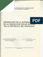 estimación de la distribución de la rad. solar en paraguay