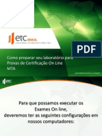 Configurando Ambiente Para Exames on Line - MTA