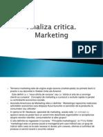 Analiza Critica Marketing