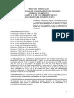 Resolucao 52 de 11 Dezembro 2013